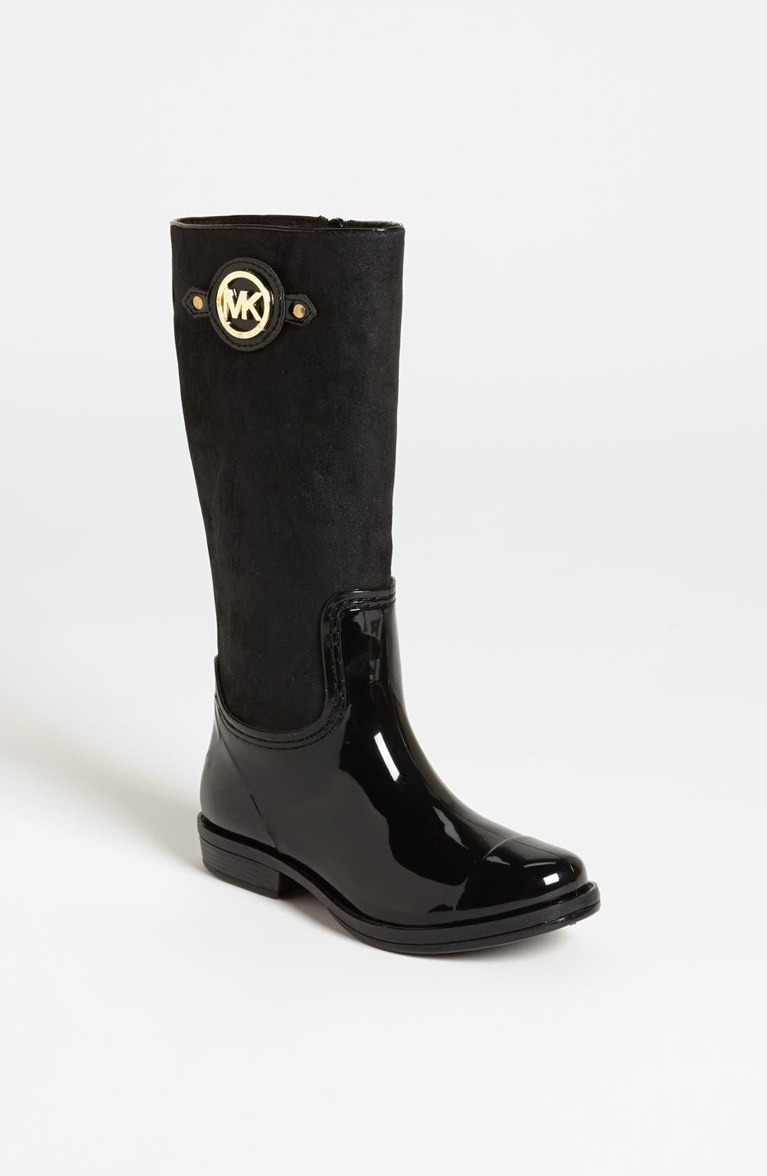 Alternate Image 1 Selected - MICHAEL Michael Kors 'Daisy' Rain Boot (Little Kid & Big Kid)