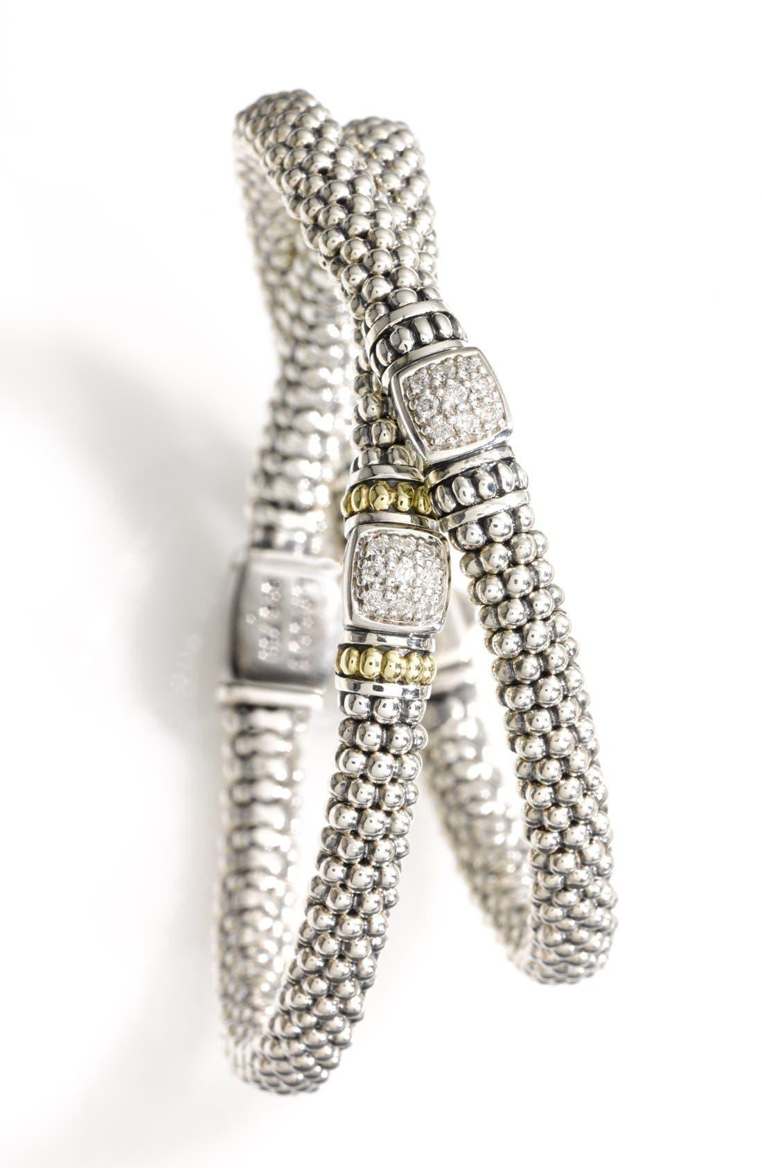 Alternate Image 2  - Lagos Caviar™ Diamond Rope Bracelet (Nordstrom Exclusive)
