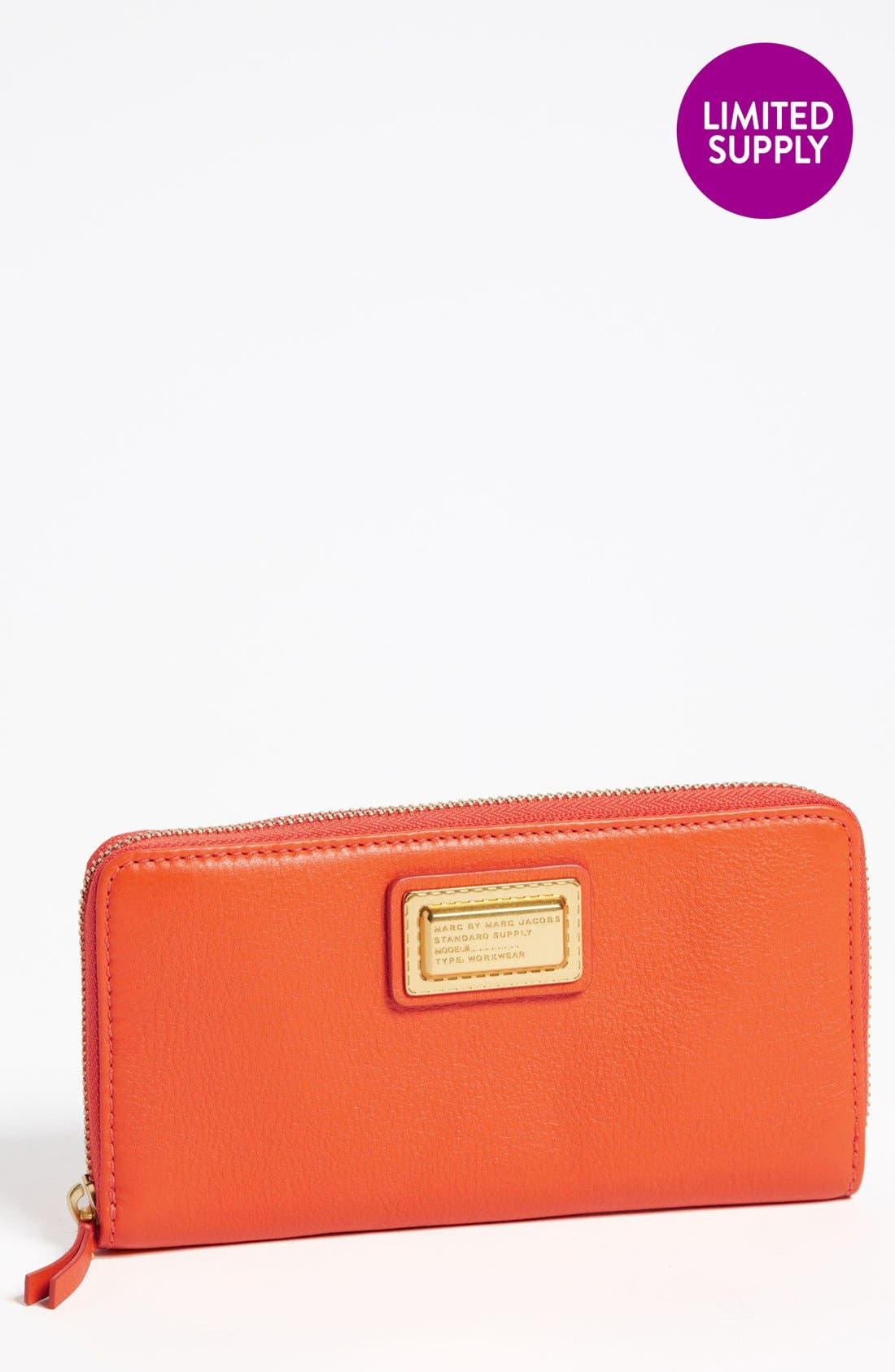 Alternate Image 1 Selected - MARC BY MARC JACOBS 'Vertical Zippy' Leather Wallet