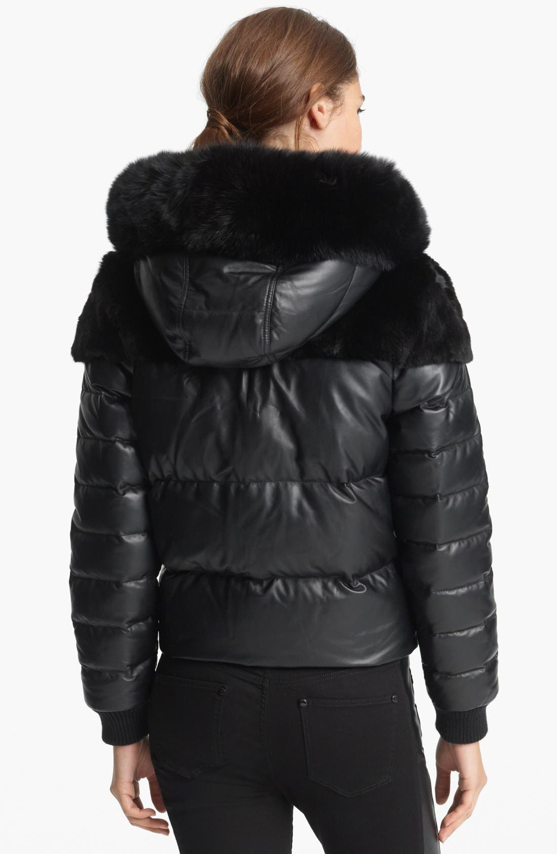 Alternate Image 2  - Burberry Brit 'Arnsfield' Quilted Leather Jacket with Genuine Mix Fur Trim