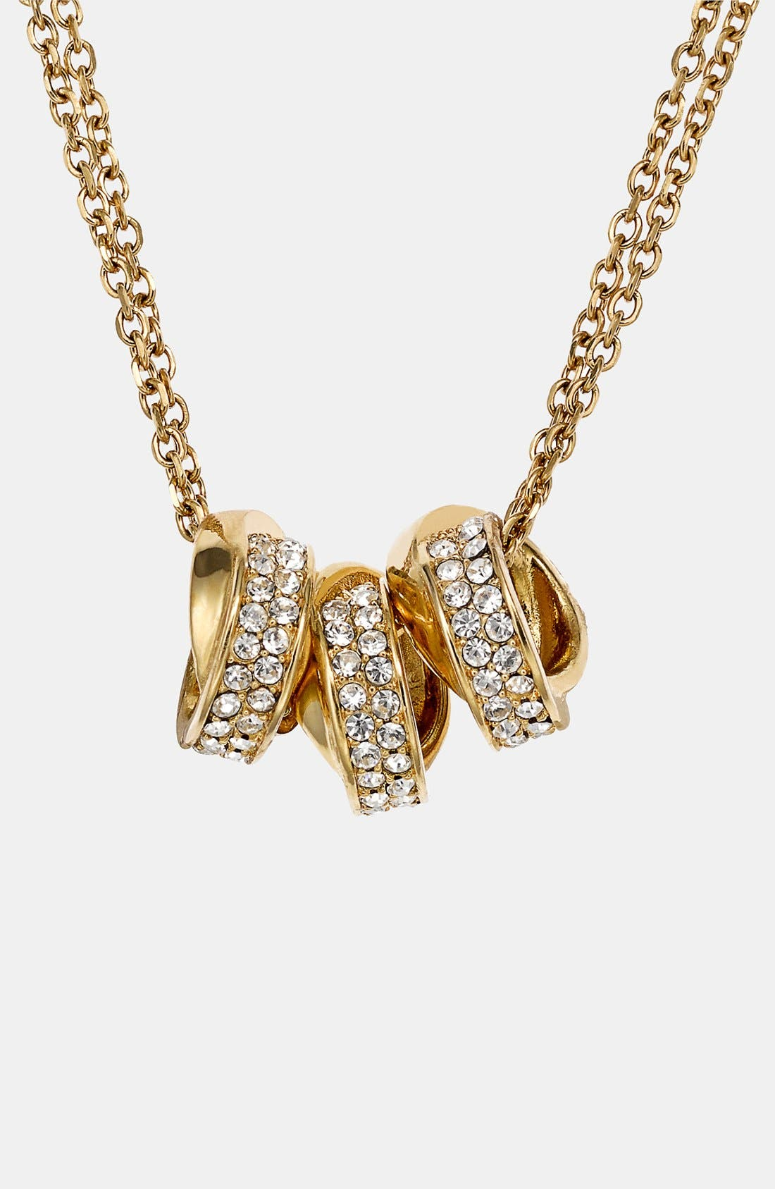 Alternate Image 1 Selected - Michael Kors 'Brilliance' Double Chain Necklace