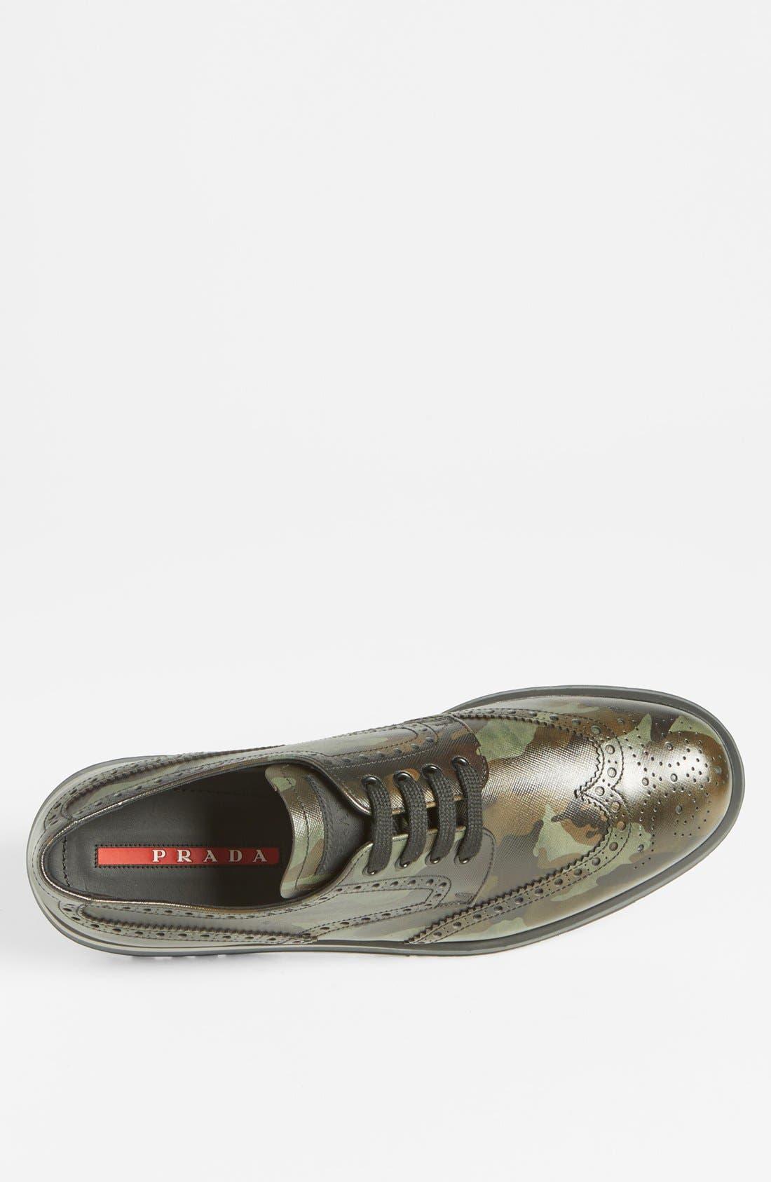 Alternate Image 3  - Prada Camo Wingtip Sneaker