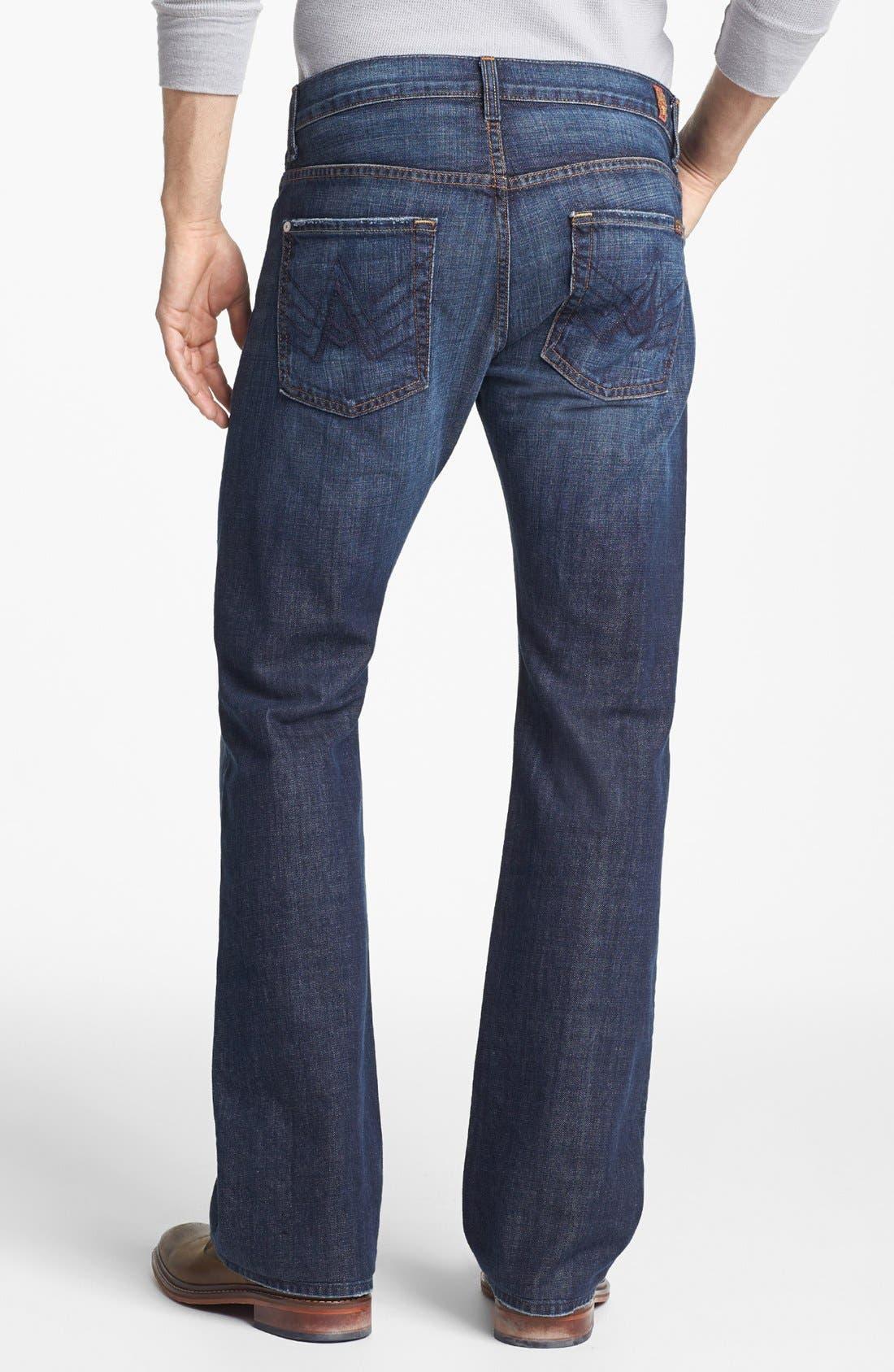 Alternate Image 2  - 7 For All Mankind® Brett Bootcut Jeans (New York Dark)