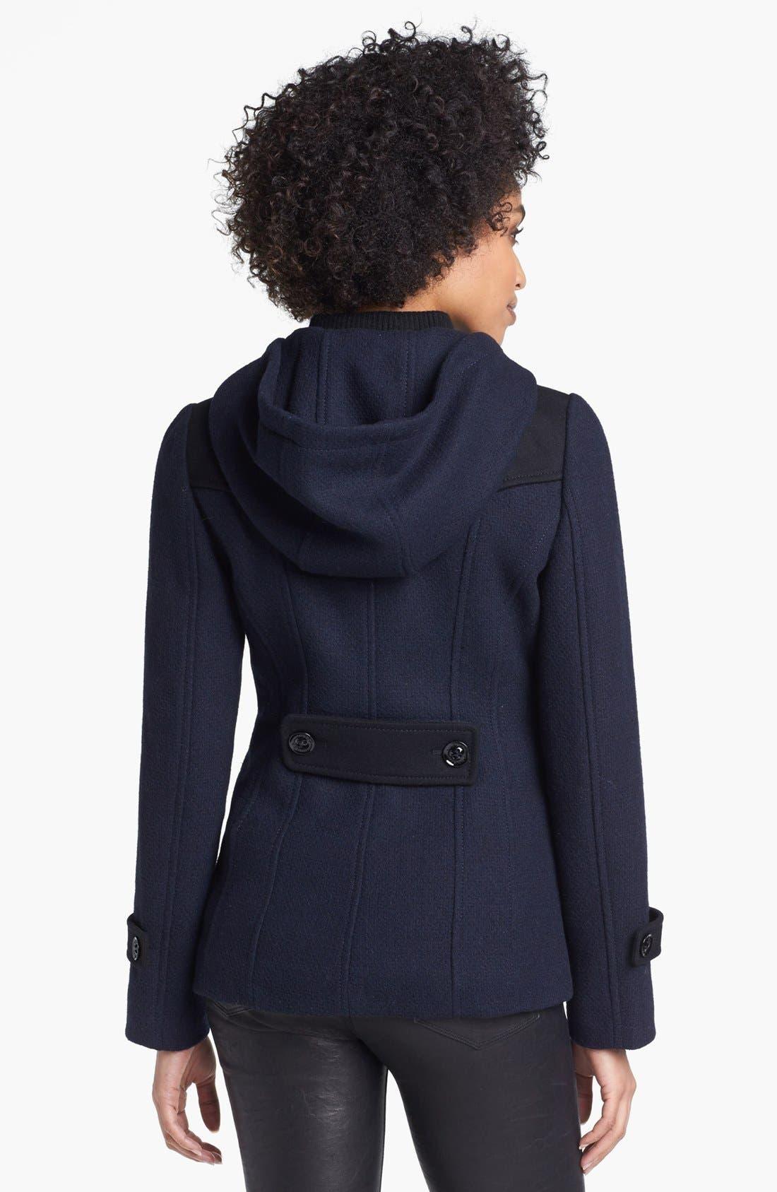 Alternate Image 2  - GUESS Colorblock Toggle Duffle Coat