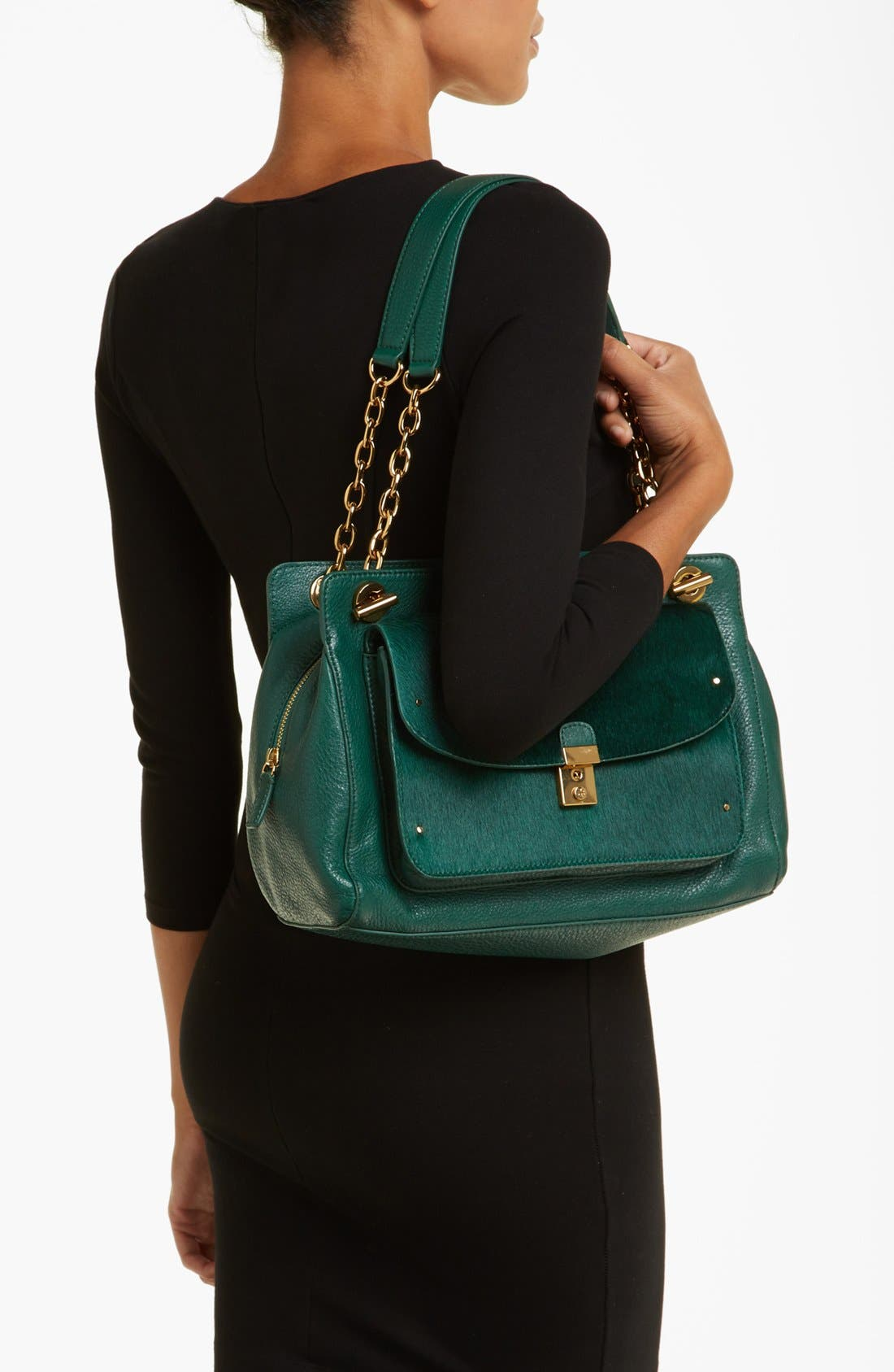 Alternate Image 2  - Tory Burch 'Priscilla' Leather & Calf Hair Shoulder Bag