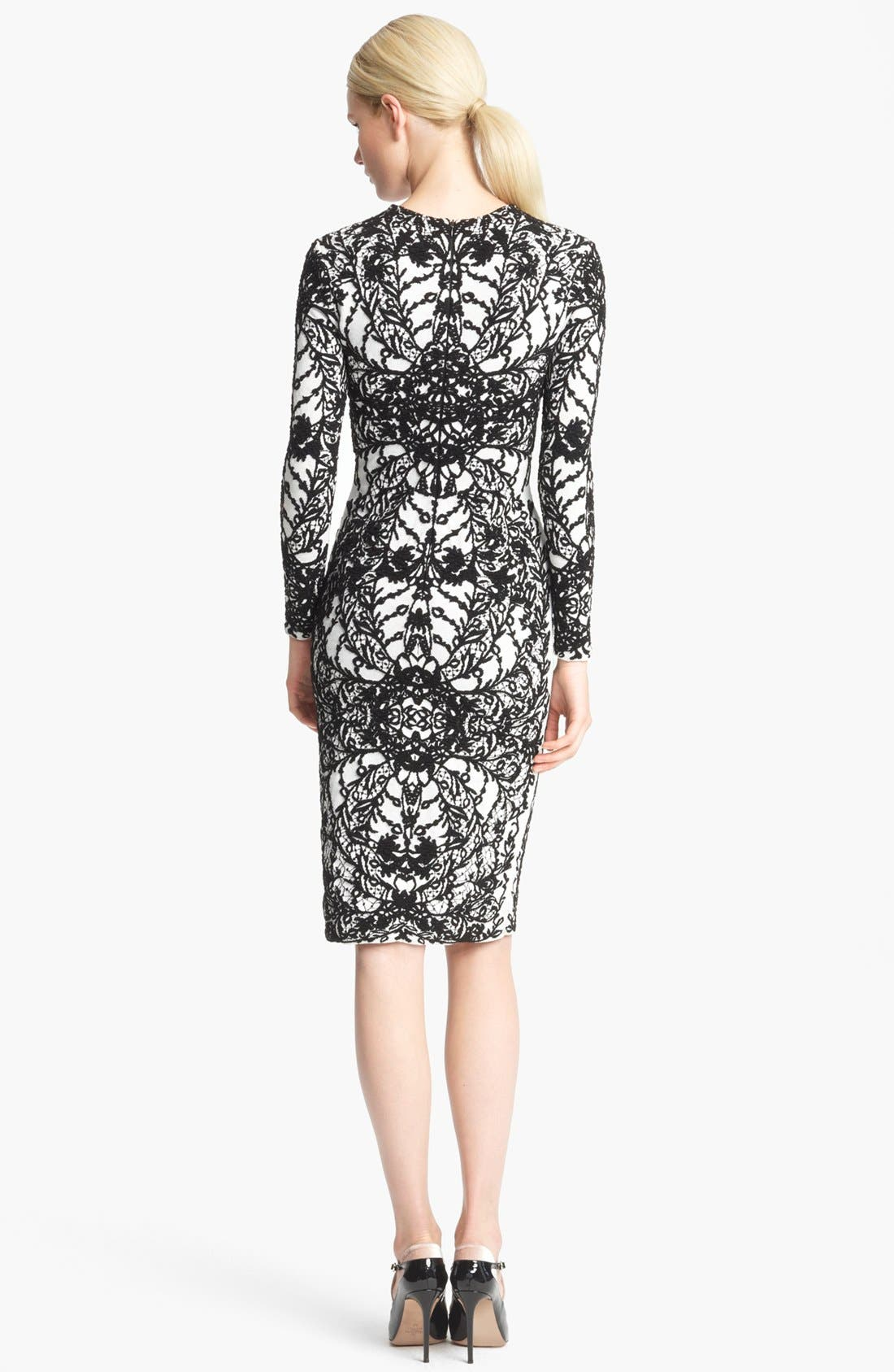Alternate Image 2  - Valentino Embroidered Sheath Dress