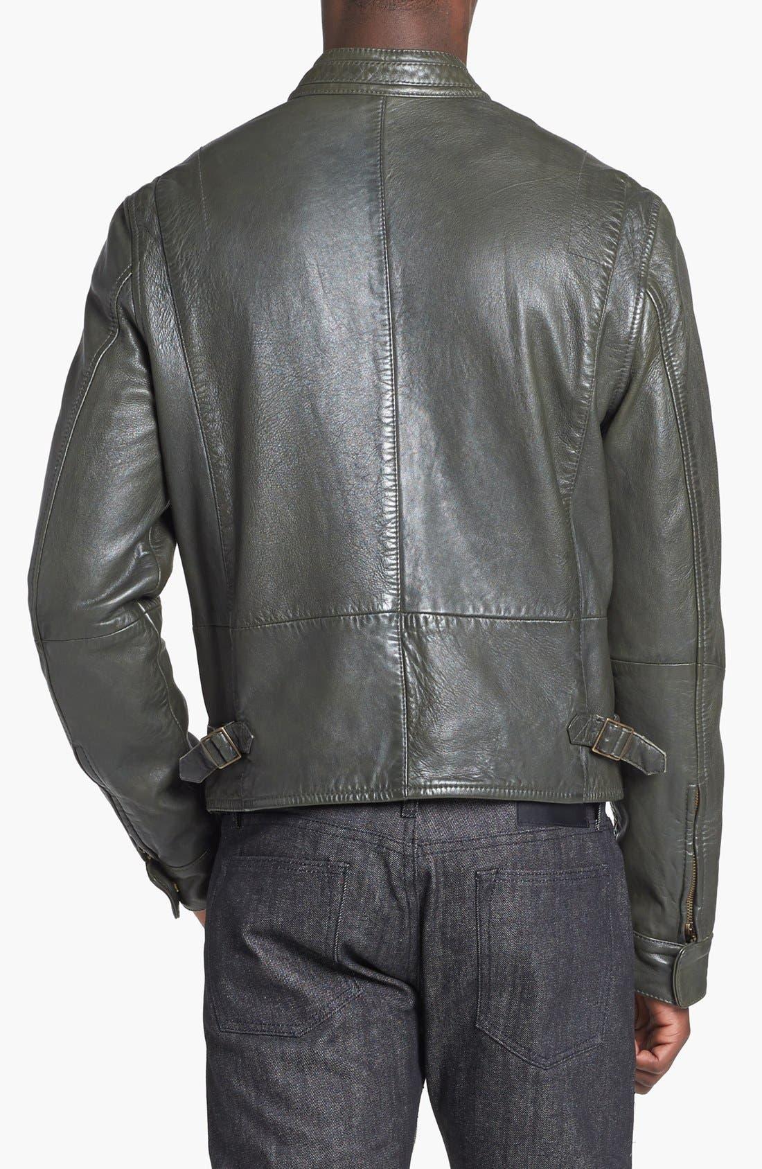 Alternate Image 2  - Levi's® Made & Crafted™ Leather Biker Jacket