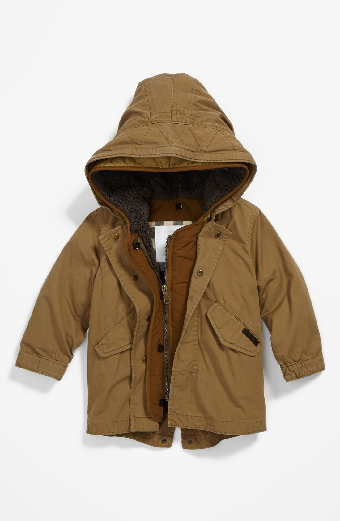 Alternate Image 1 Selected - Burberry 'Chaundler' Coat (Toddler Boys)