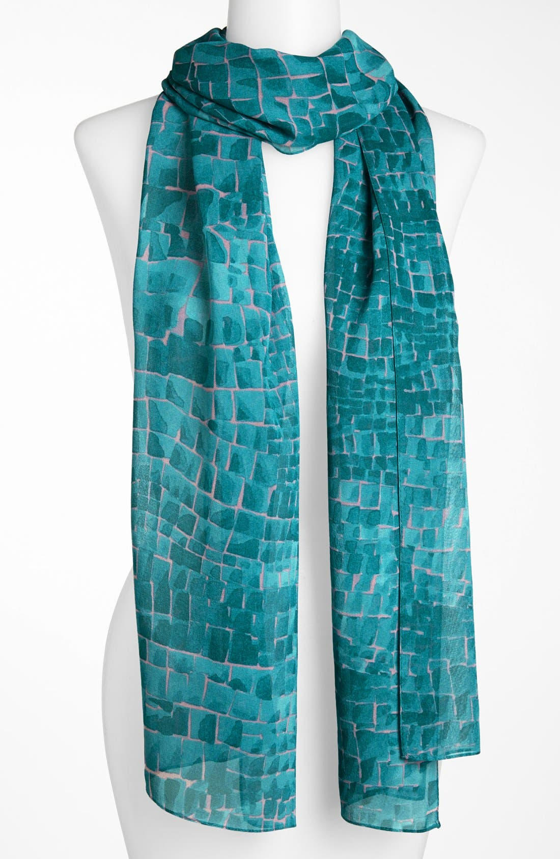 Main Image - St. John Collection Reptile Print Scarf