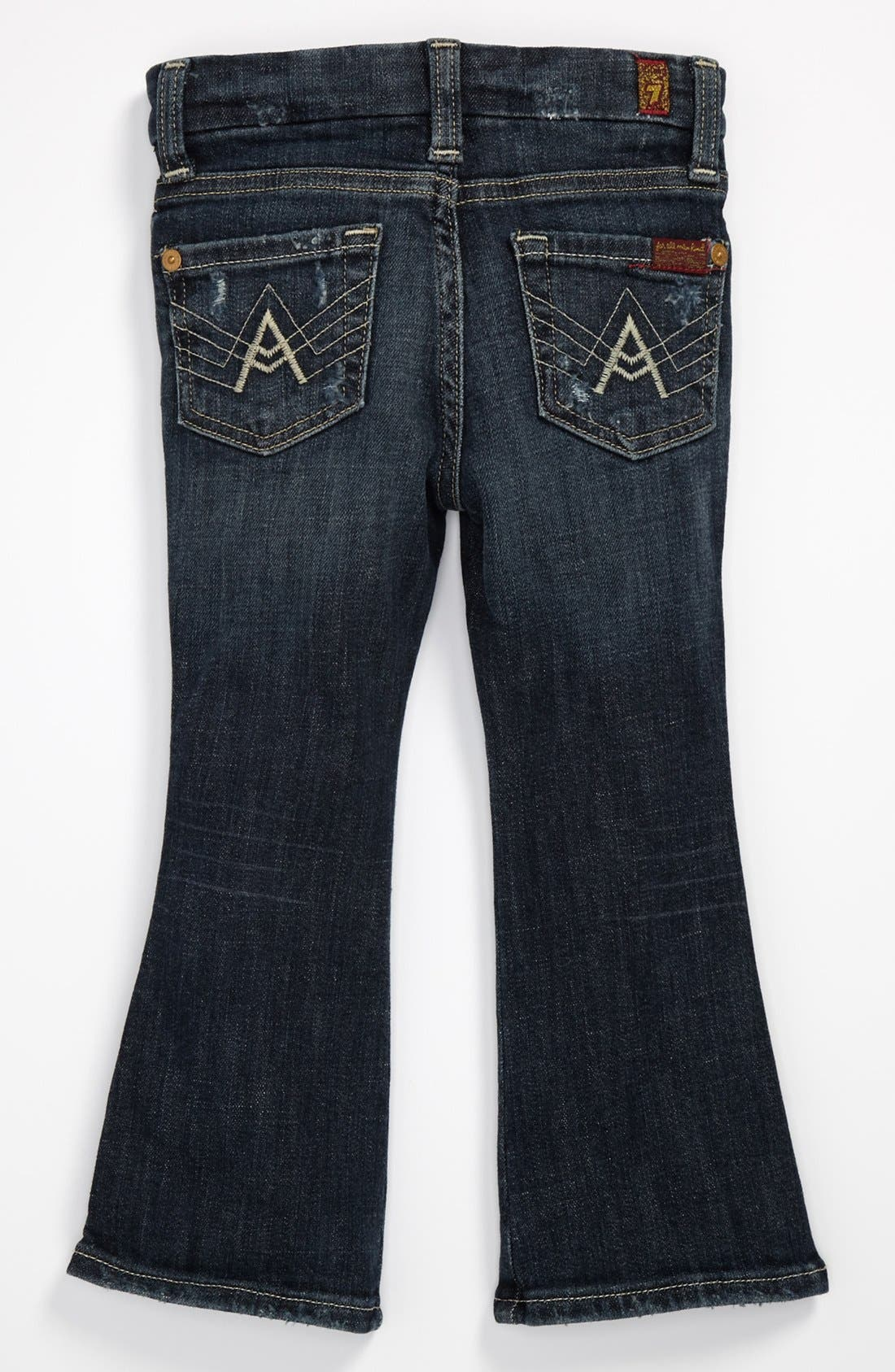 Main Image - 7 For All Mankind® Flare Jeans (Toddler Girls)