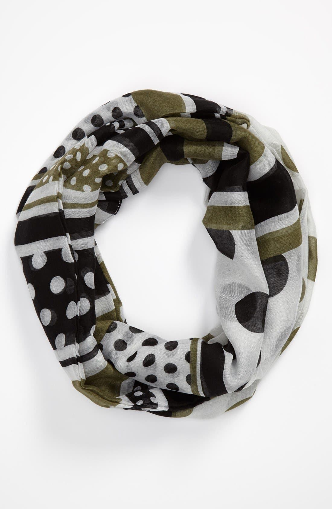 Alternate Image 1 Selected - Sayami Polka Dot & Stripe Infinity Scarf