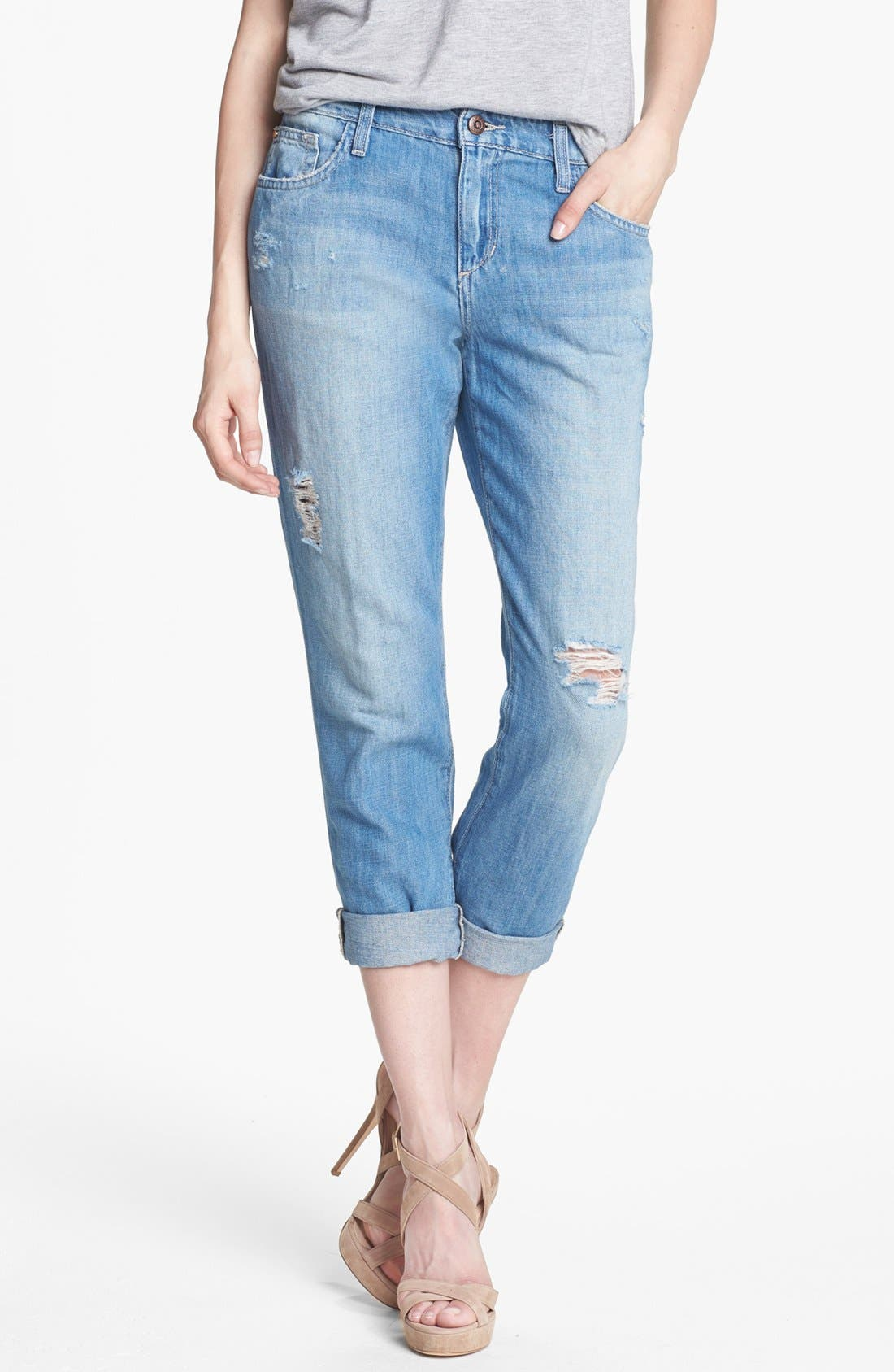 Main Image - Joe's 'Slouchy Highwater' Destroyed Jeans (Rachelle)