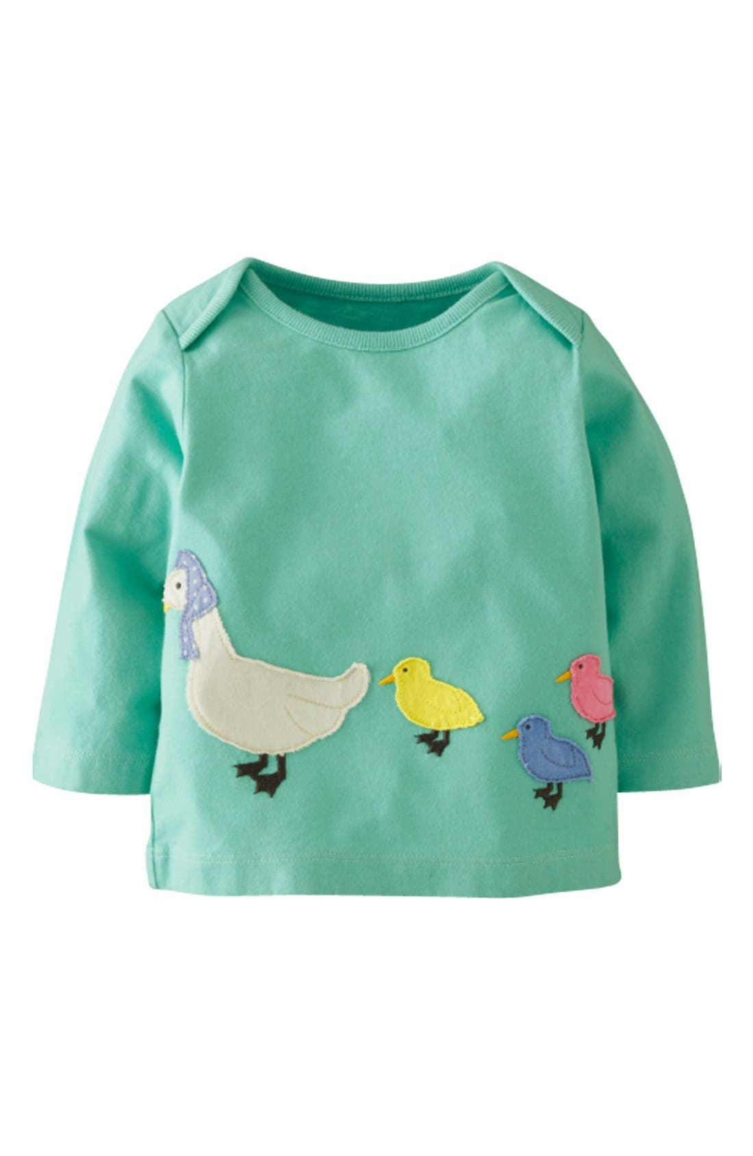 Alternate Image 1 Selected - Mini Boden Patchwork Appliqué Tee (Baby Girls)