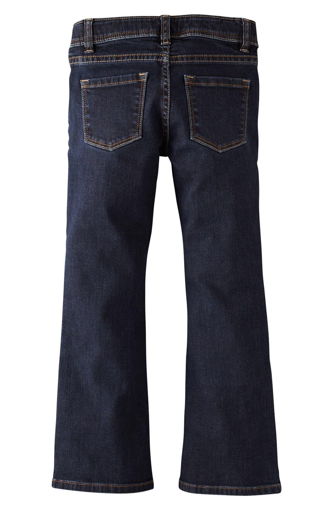 Main Image - Mini Boden Bootcut Jeans (Little Girls & Big Girls)
