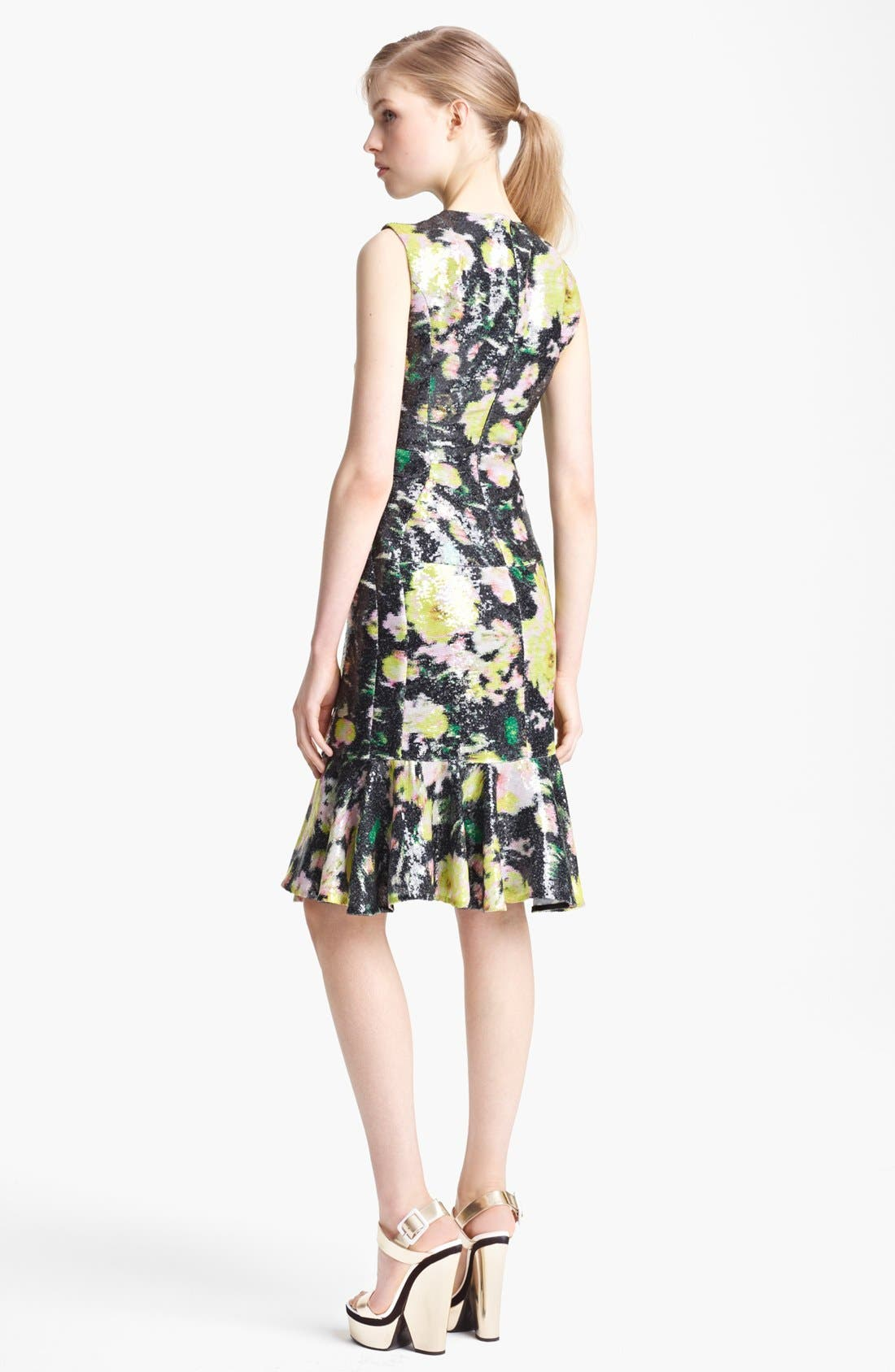 Alternate Image 2  - Erdem 'Kelis' Sequin Rose Print Dress
