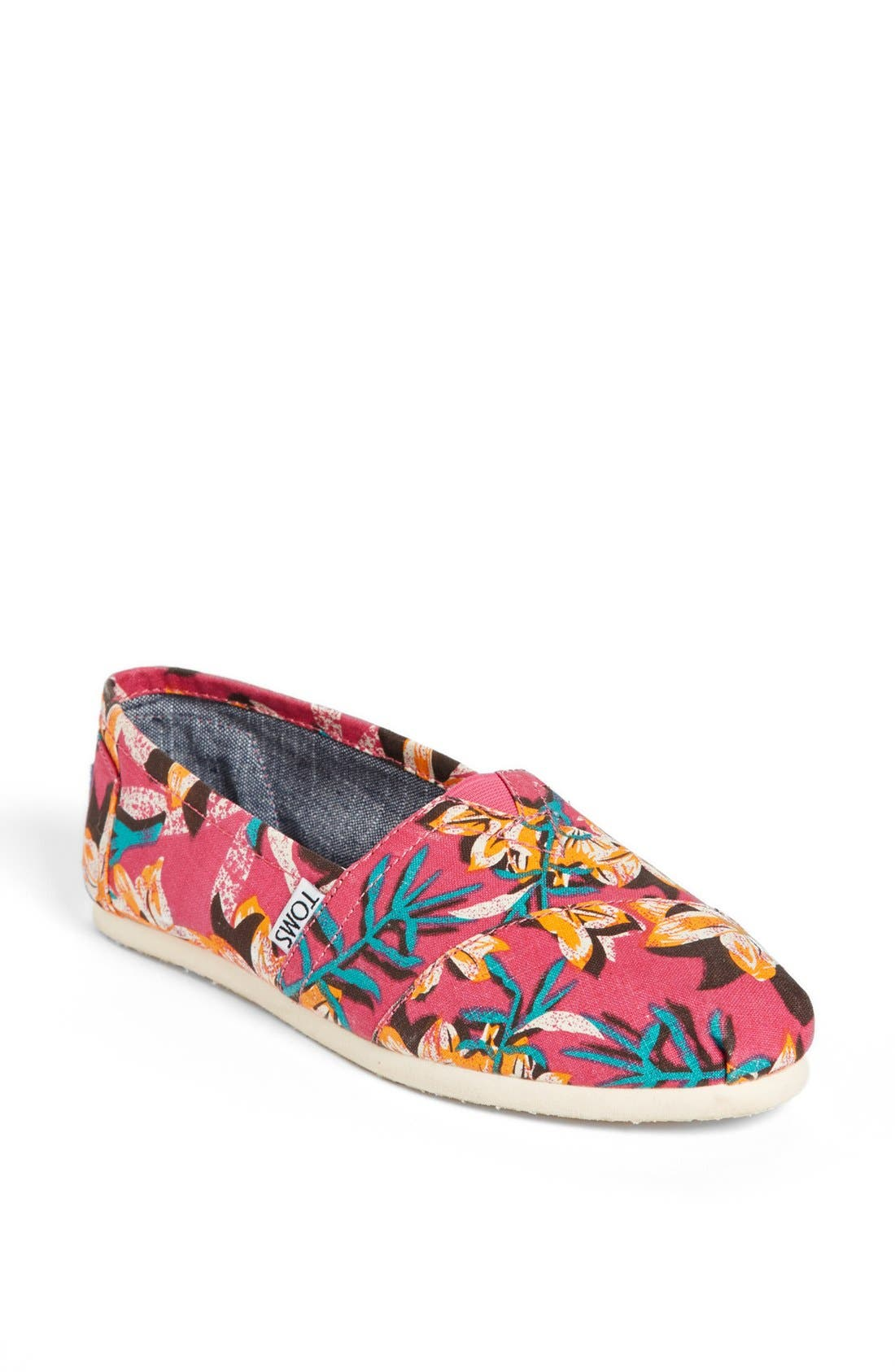 Alternate Image 1 Selected - TOMS 'Classic - Pink Floral' Vegan Slip-On (Women)