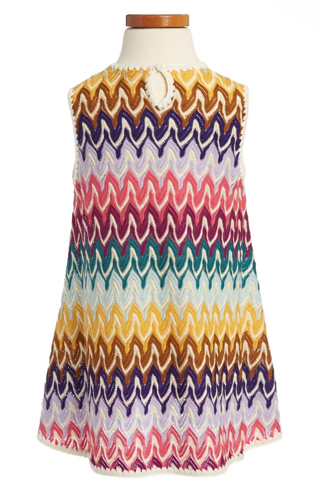 Alternate Image 2  - Missoni Sleeveless Crochet Dress (Toddler Girls, Little Girls & Big Girls)