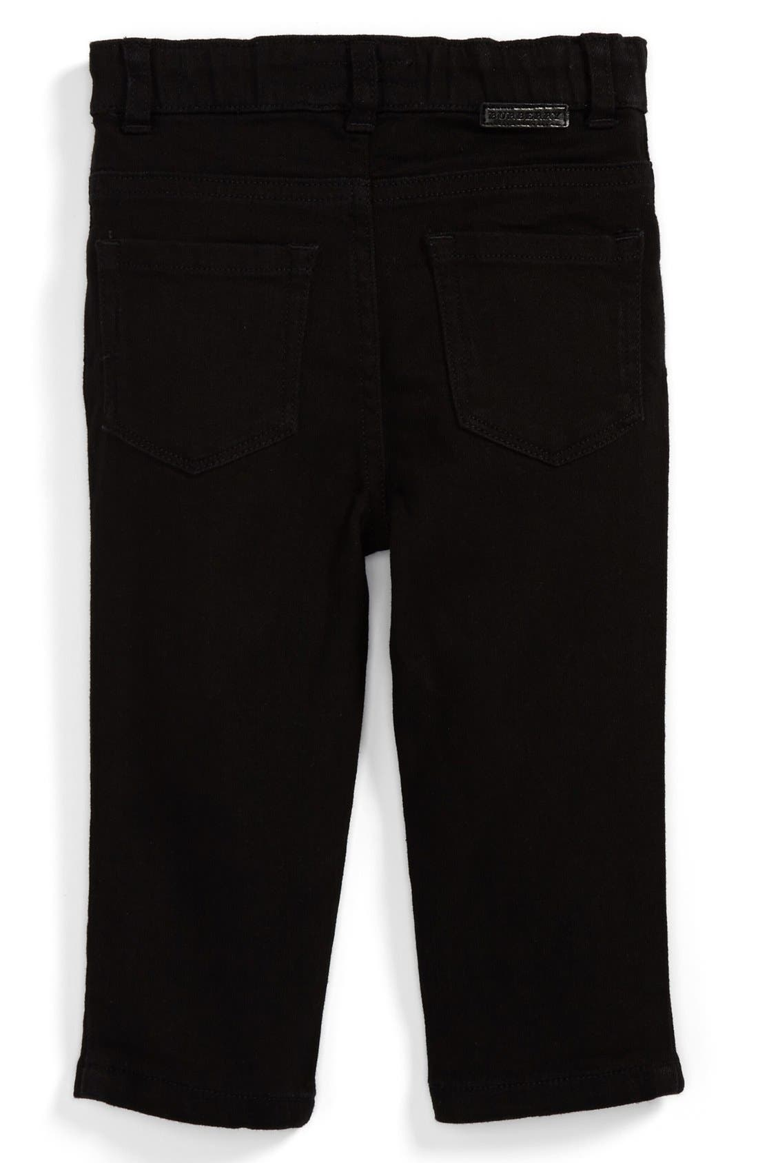 Alternate Image 1 Selected - Burberry 'Langston' Skinny Leg Jeans (Baby Boys)