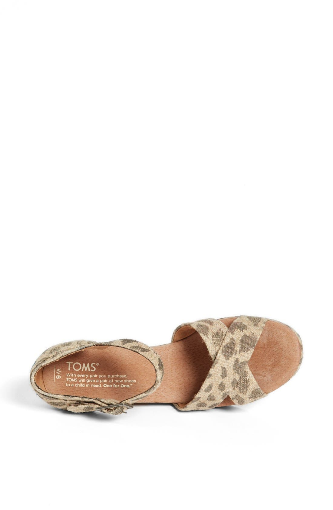 Alternate Image 3  - TOMS 'Leopard' Wedge Sandal