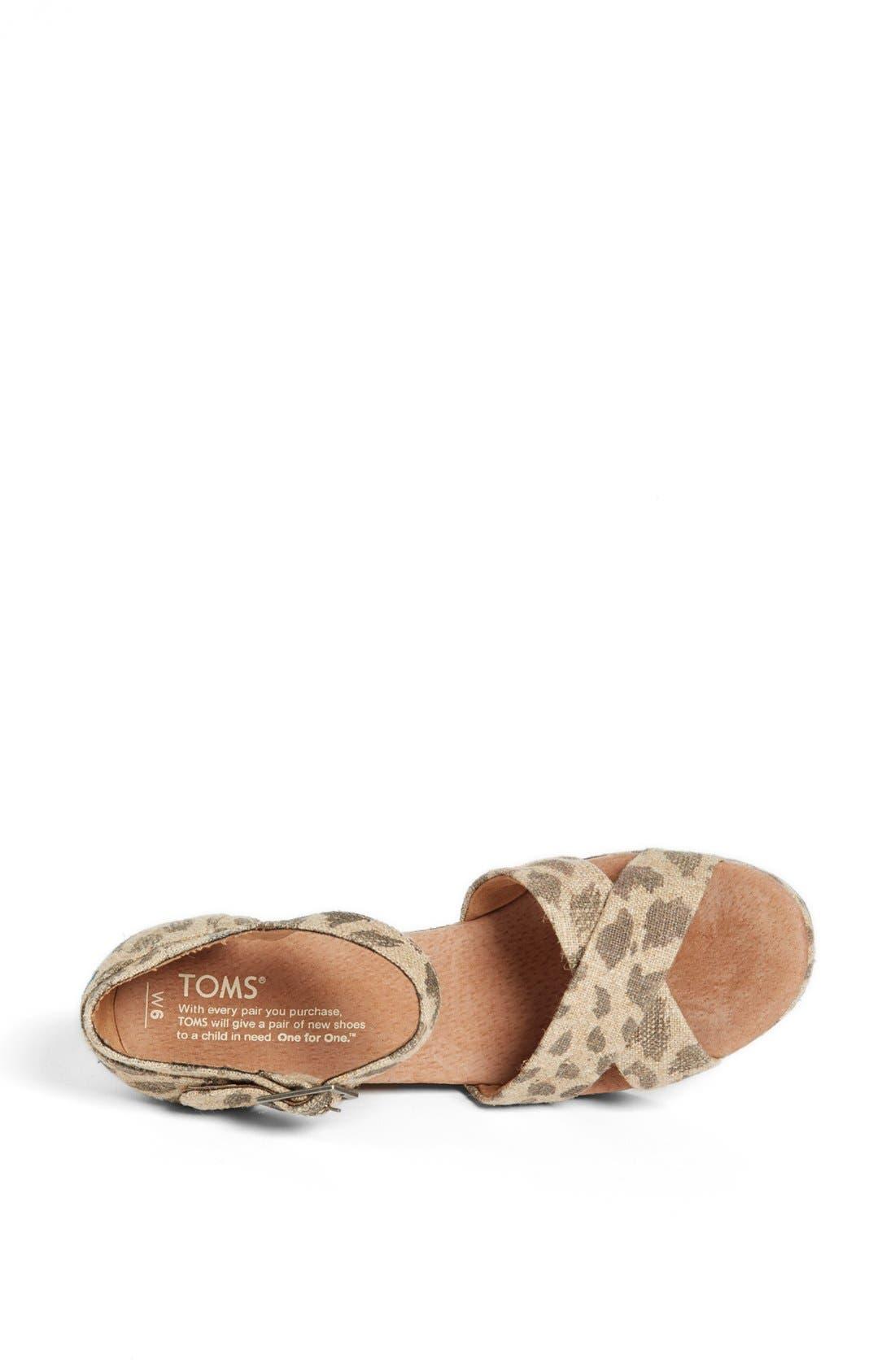 Alternate Image 3  - TOMS 'Leopard' Wedge Sandal