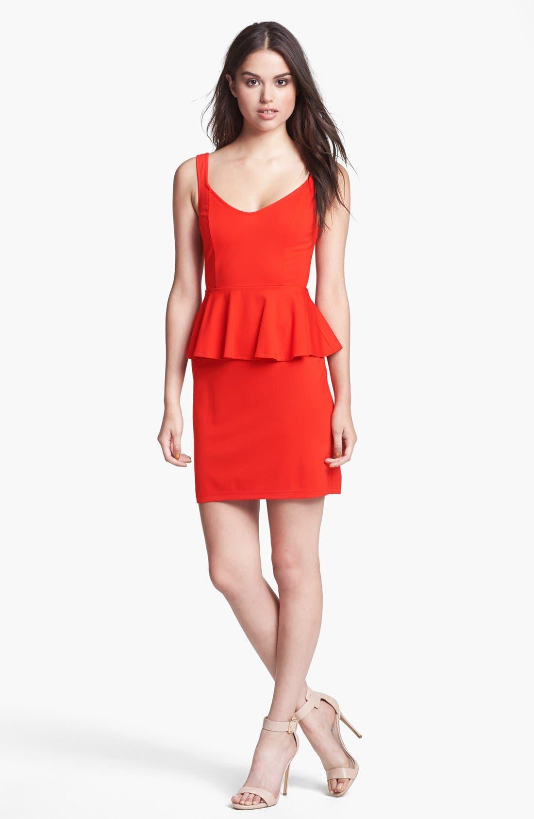 Main Image - BB Dakota 'Minny' Ponte Peplum Sheath Dress