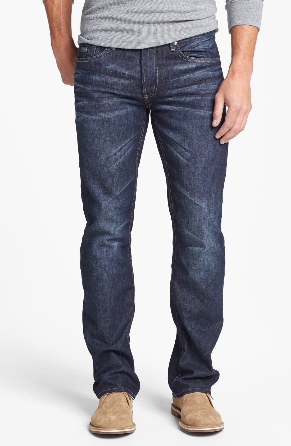 Alternate Image 1 Selected - Buffalo Jeans 'Six' Straight Leg Jeans (Slightly Washed)