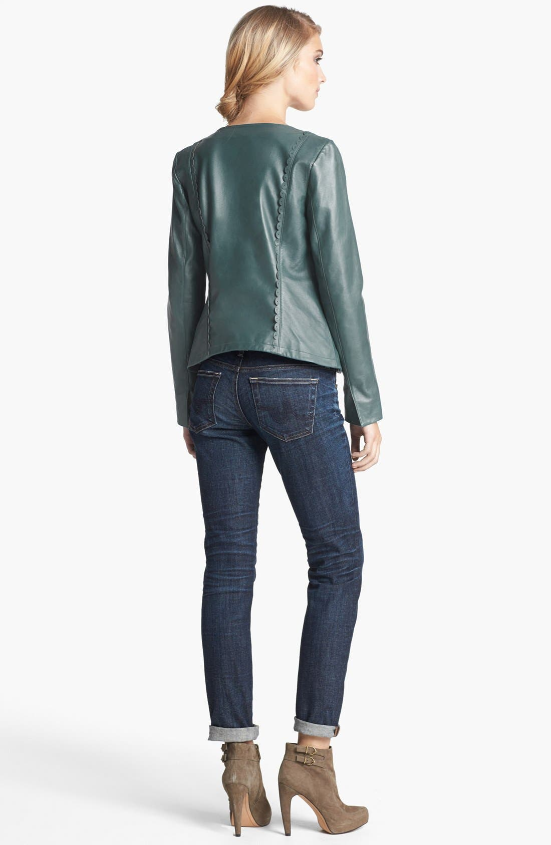 Main Image - Hinge® Jacket, Free People Tank & Joe's Bootcut Jeans