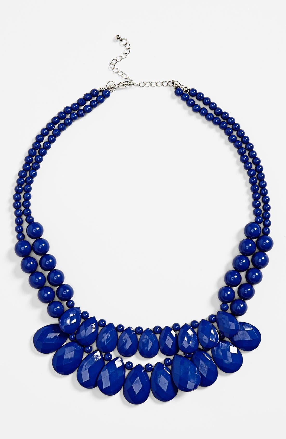 Alternate Image 1 Selected - Carole Two Strand Beaded Statement Necklace (Juniors)
