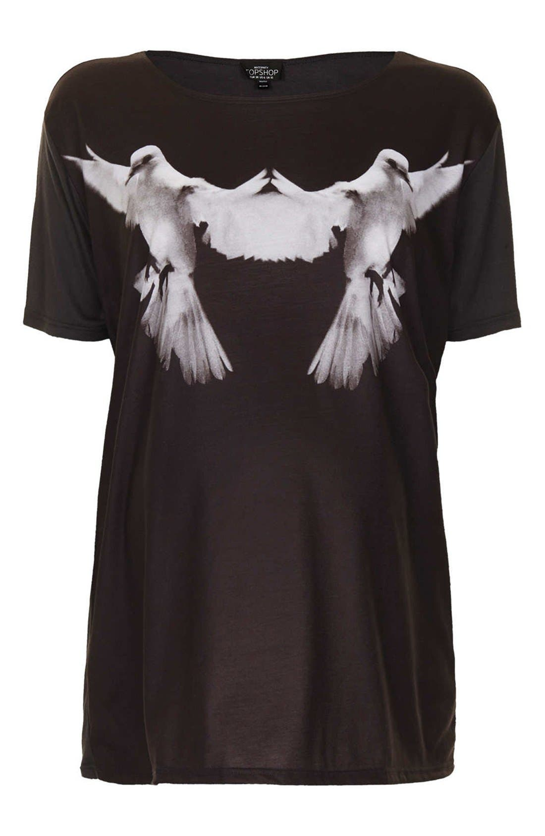 Alternate Image 1 Selected - Topshop 'Photo Dove' Maternity Tee