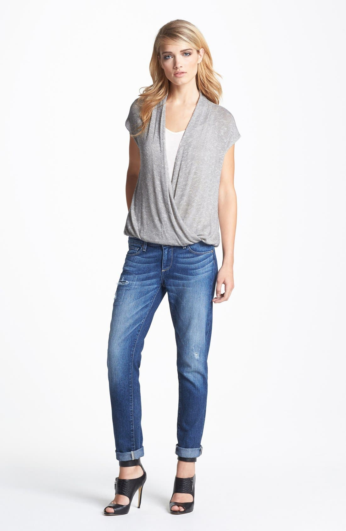 Alternate Image 1 Selected - Ella Moss Top & Paige Denim Jeans