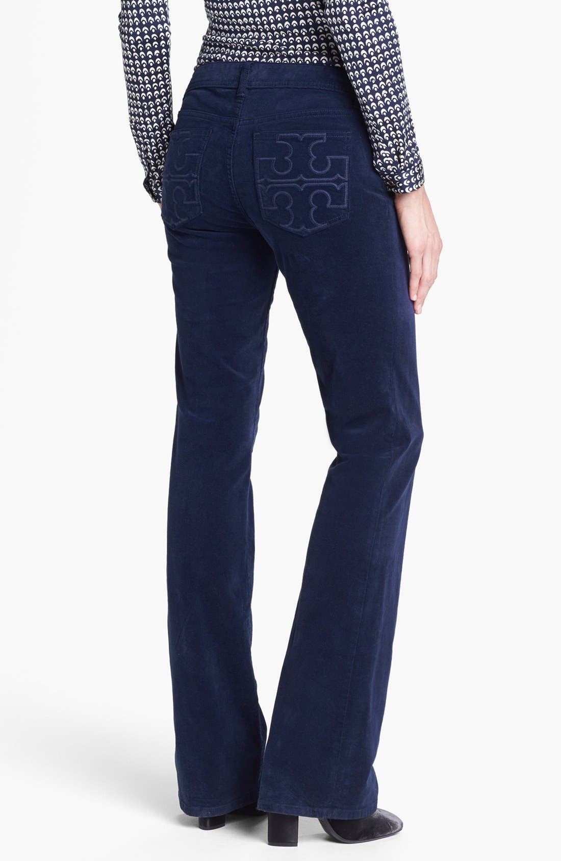 Alternate Image 2  - Tory Burch 'Classic Tory' Corduroy Pants