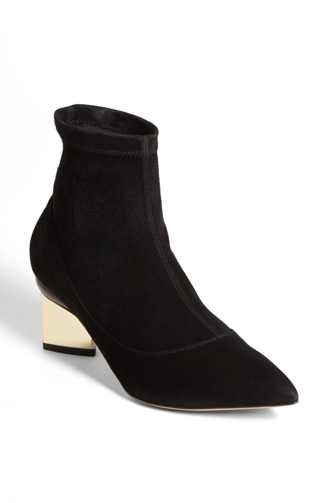 Alternate Image 1 Selected - Nicholas Kirkwood Stretch Suede Bootie
