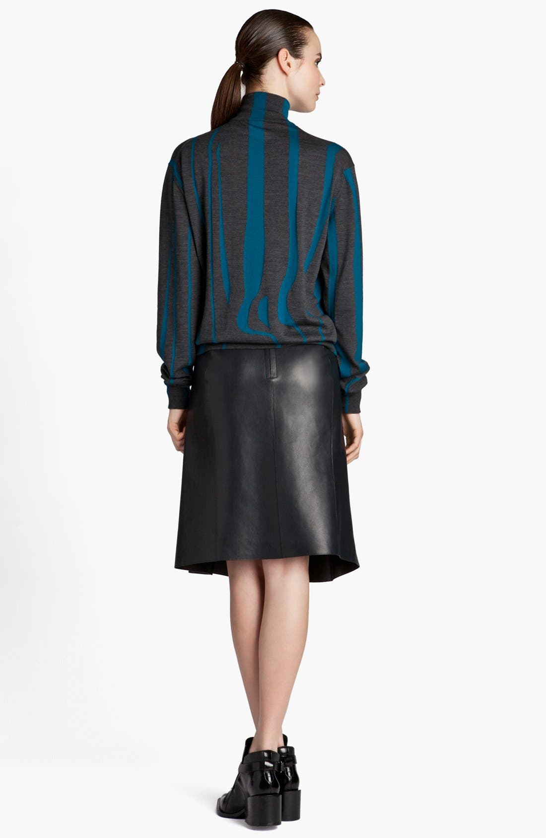 Alternate Image 4  - Jil Sander 'Pom Pom' Pleated Leather Skirt