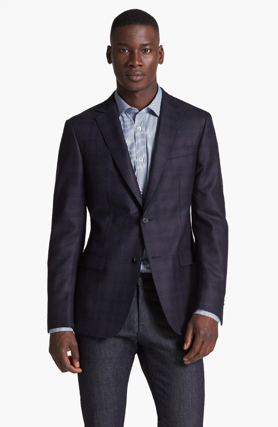 Alternate Image 1 Selected - Z Zegna Drop 8 Fit Check Plaid Sportcoat
