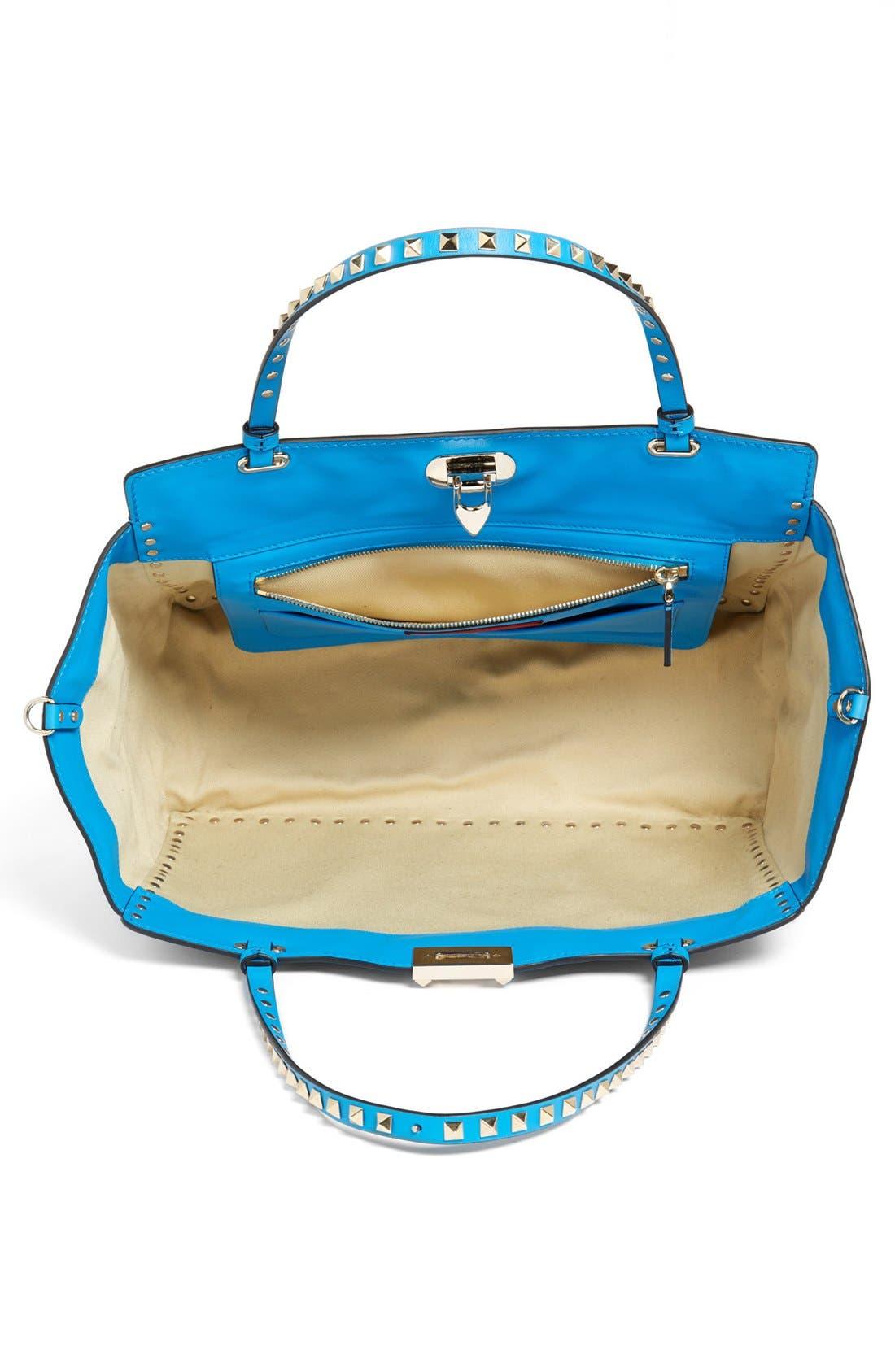Alternate Image 3  - Valentino 'Rockstud - Medium' Double Handle Leather Tote