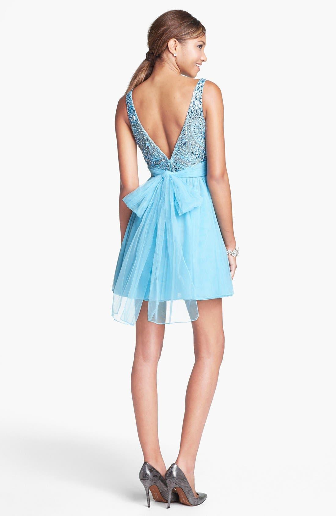 Alternate Image 2  - Sherri Hill Embellished Tulle Fit & Flare Dress