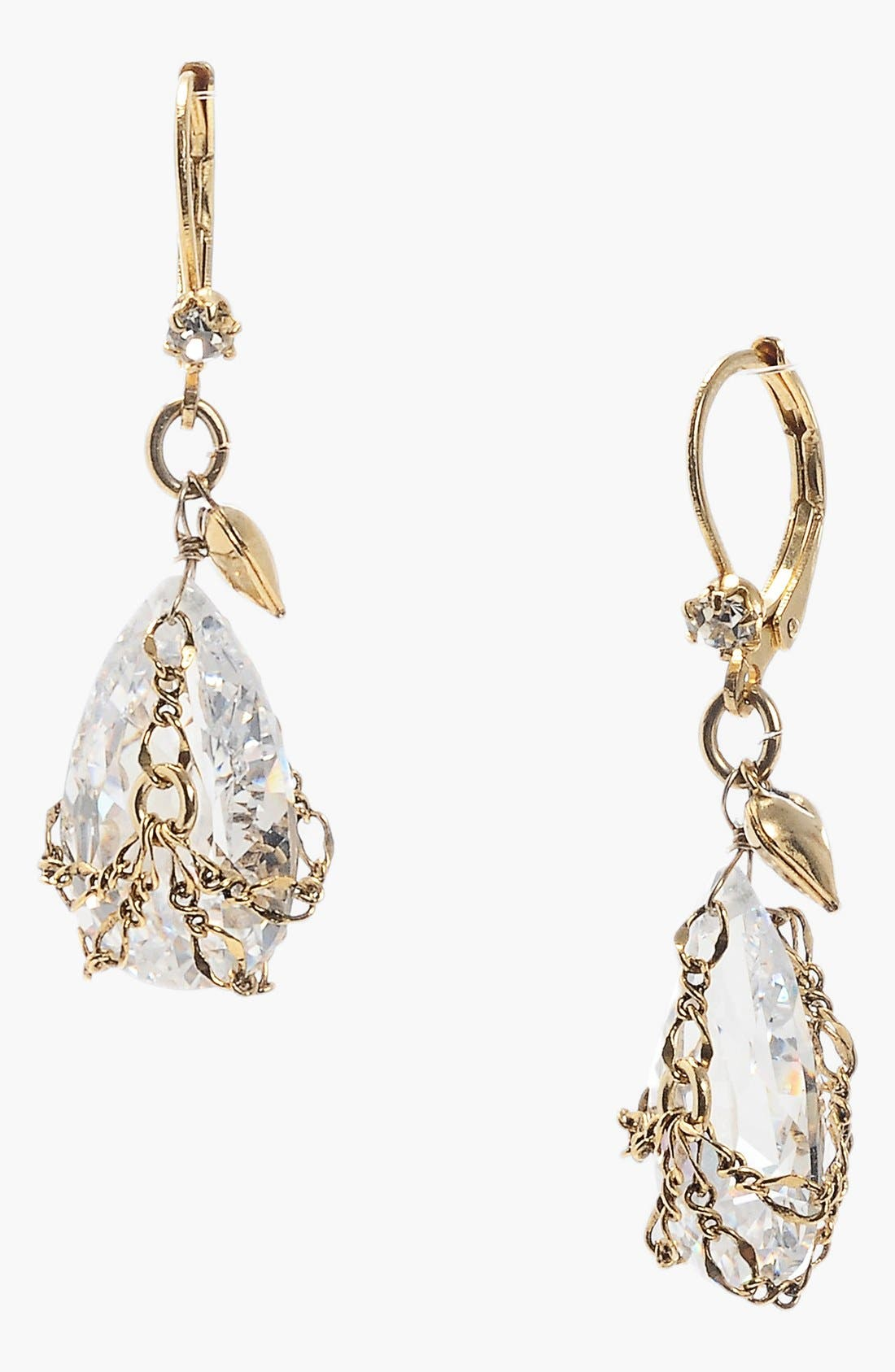 Alternate Image 1 Selected - Betsey Johnson Crystal Briolette Drop Earrings