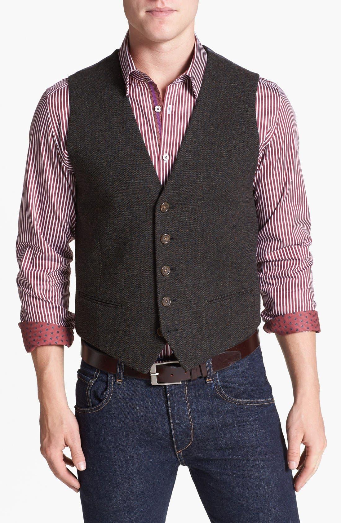Main Image - Wallin & Bros. Trim Fit Donegal Vest