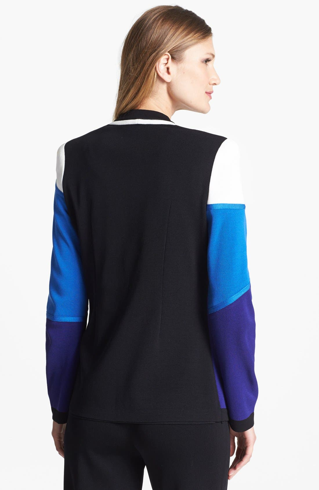 Alternate Image 2  - Misook 'Paulie' Colorblock Knit Jacket