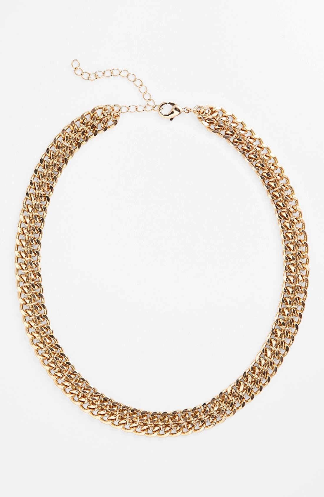 Alternate Image 1 Selected - Stephan & Co. Double Chain Link Necklace (Juniors) (Online Only)