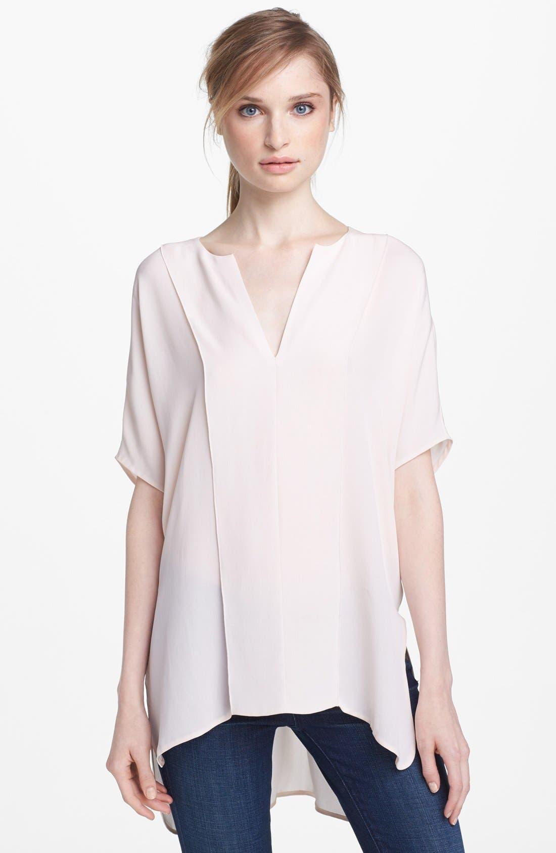 Alternate Image 1 Selected - Vince Paneled Silk Blouse