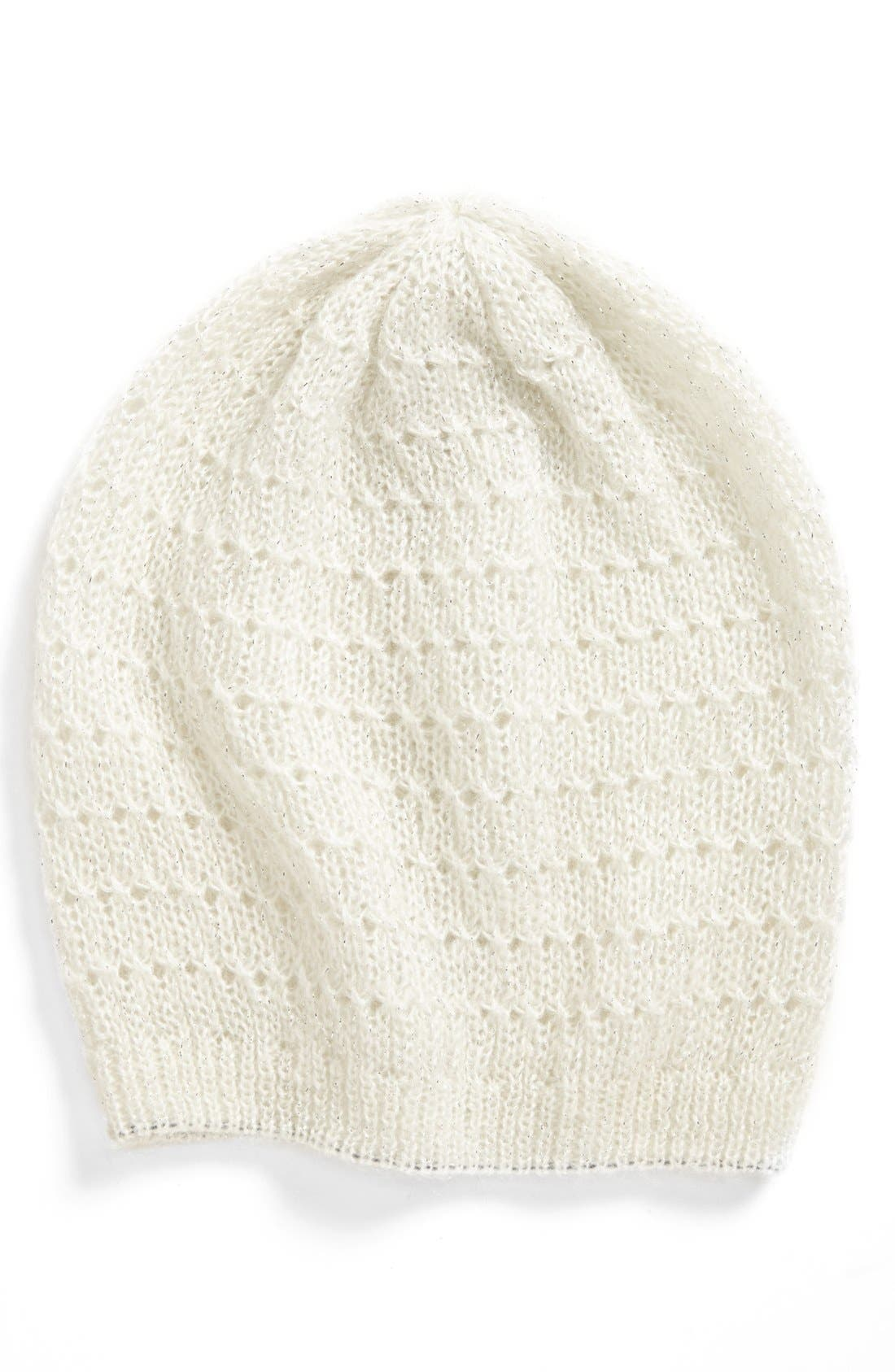 Main Image - Ruby & Bloom Cable Knit Beanie (Girls)