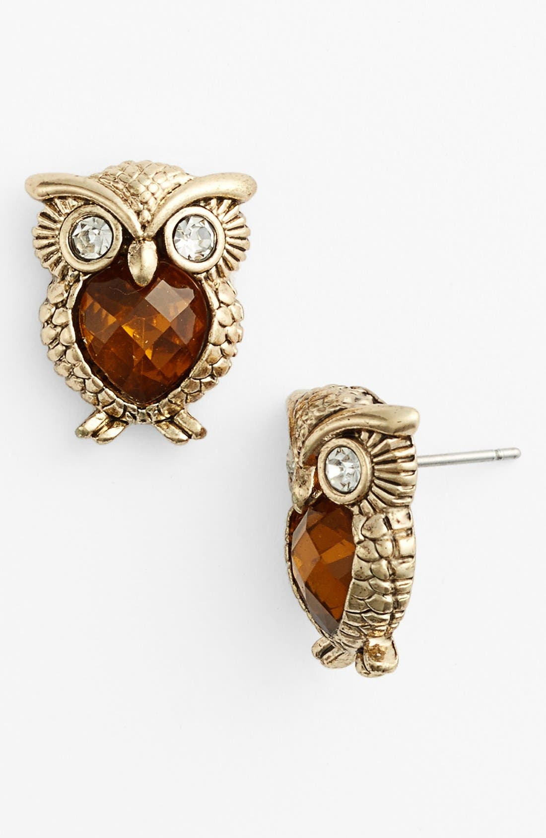 Alternate Image 1 Selected - Anne Klein Owl Stud Earrings
