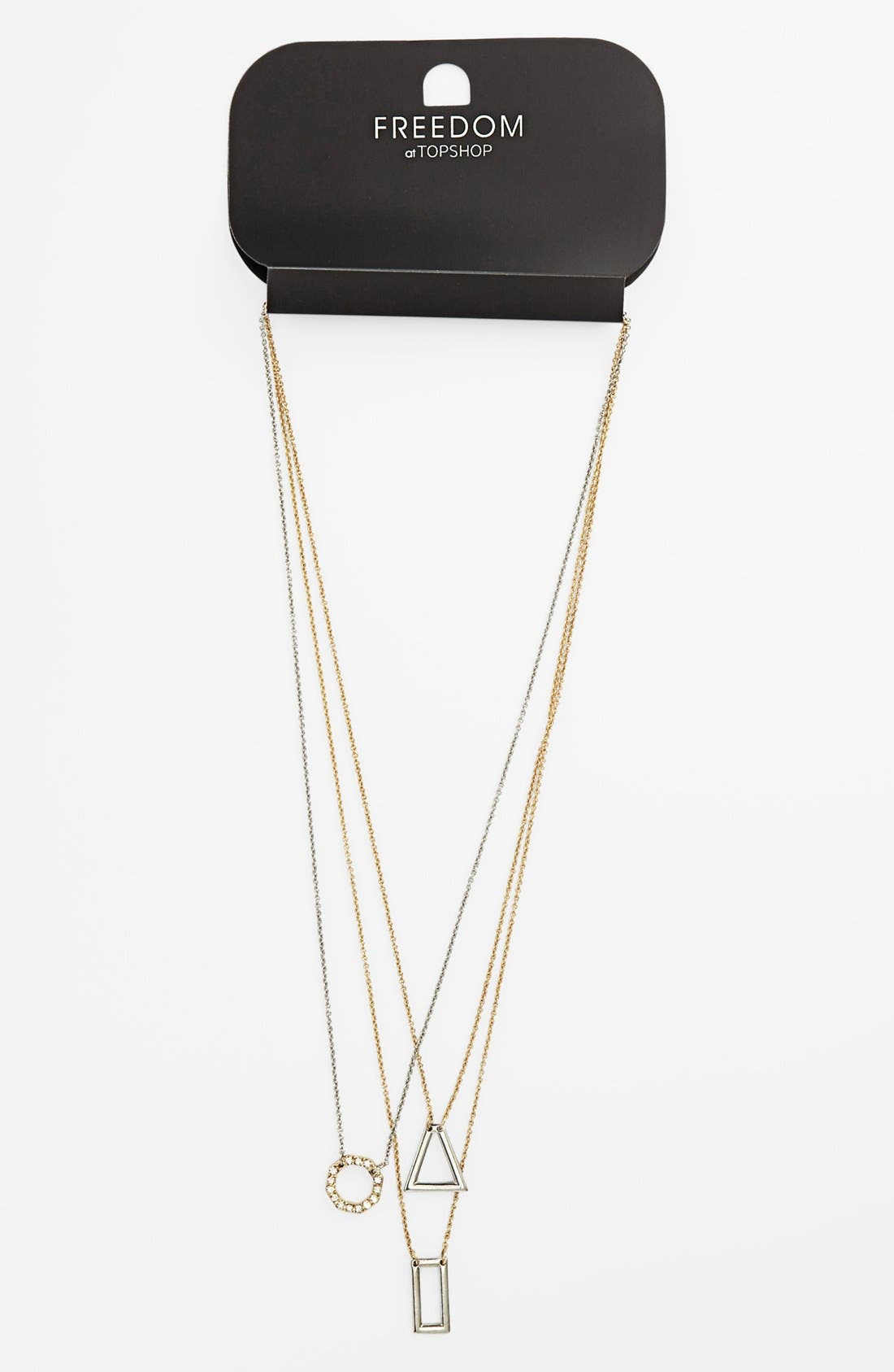 Main Image - Topshop Ditsy Pendant Layered Necklace