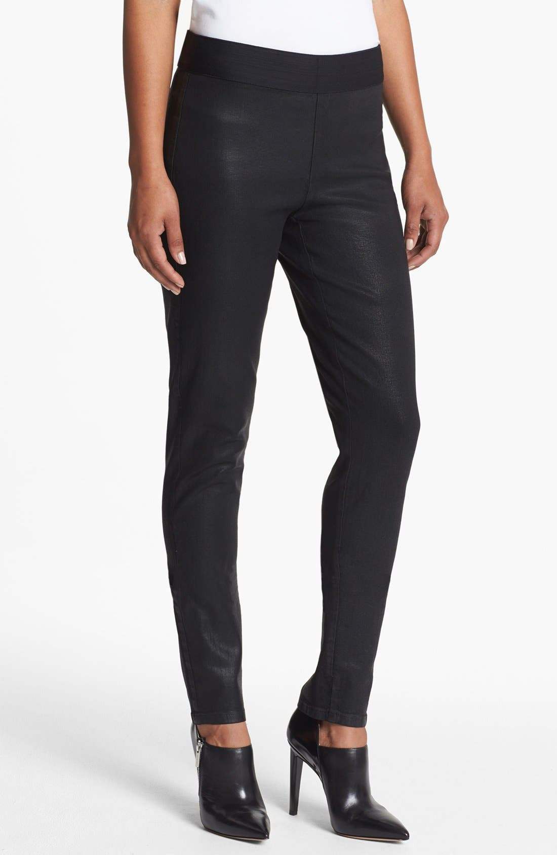 Alternate Image 1 Selected - NYDJ 'Gia' Coated Stretch Pull-On Pants