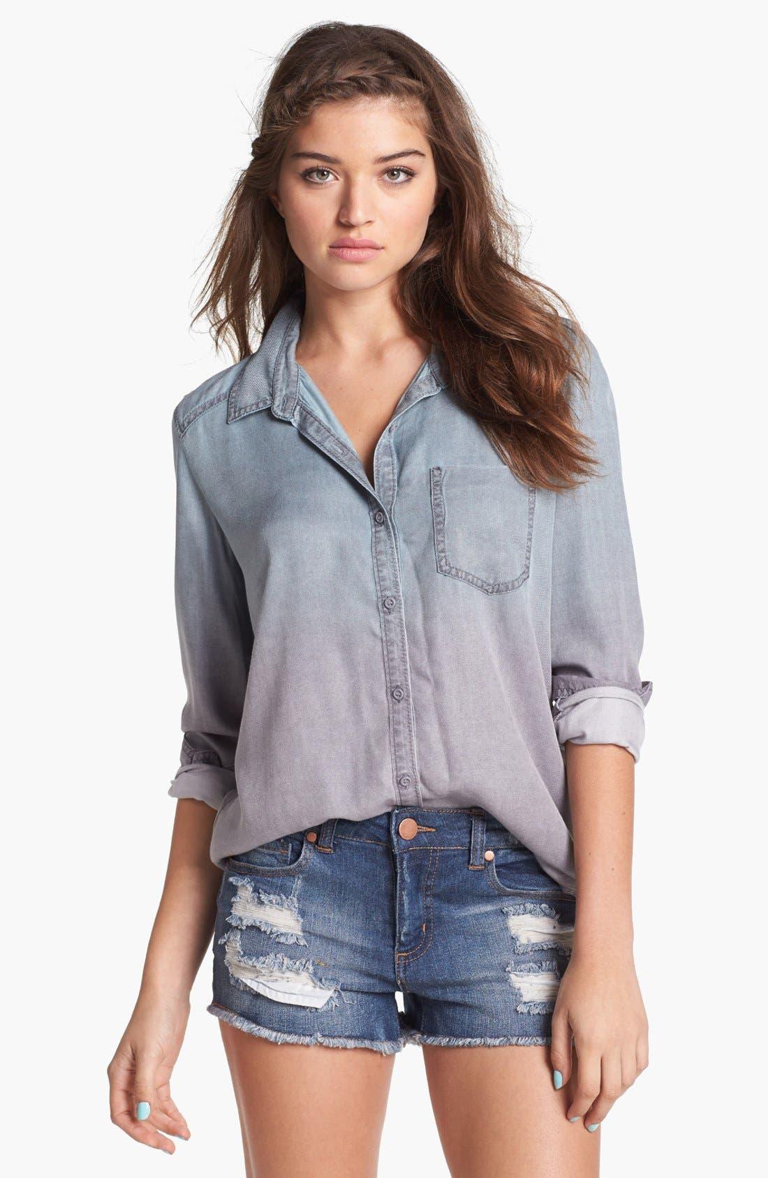 Alternate Image 1 Selected - Rubbish® Ombré Shirt (Juniors)