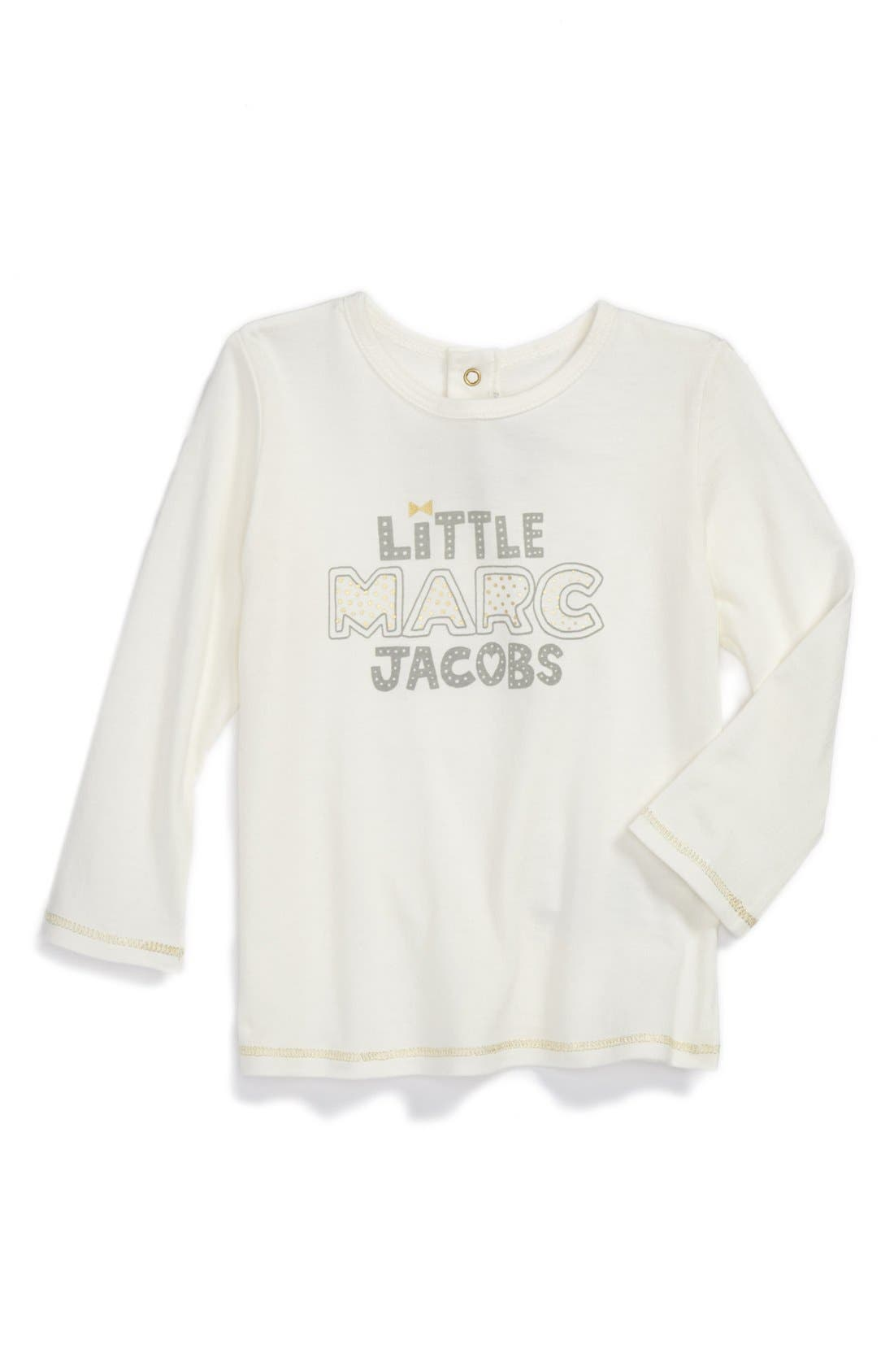 Alternate Image 1 Selected - LITTLE MARC JACOBS Long Sleeve Tee (Baby Girls)
