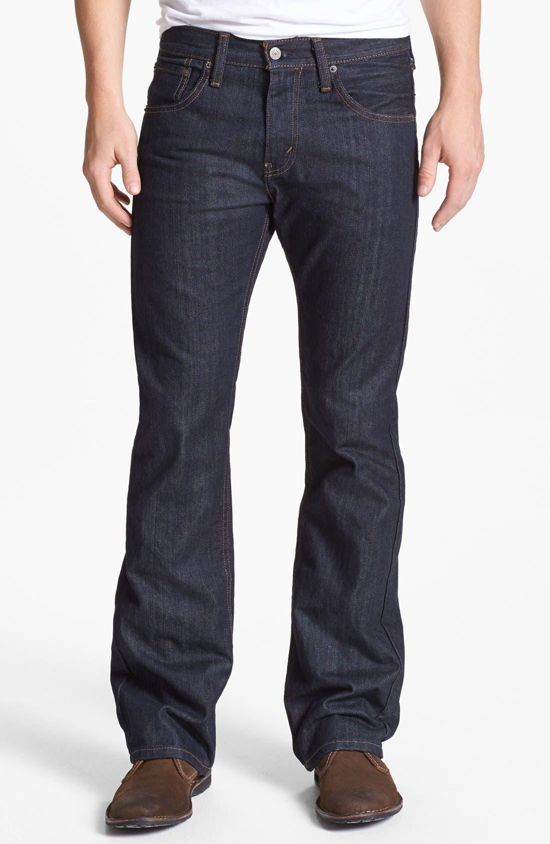 Alternate Image 2  - Levi's® '527™' Bootcut Jeans (Tumbled Rigid)
