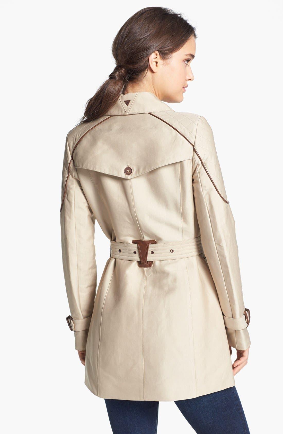 Alternate Image 2  - Sam Edelman Quilted Shoulder Trench Coat