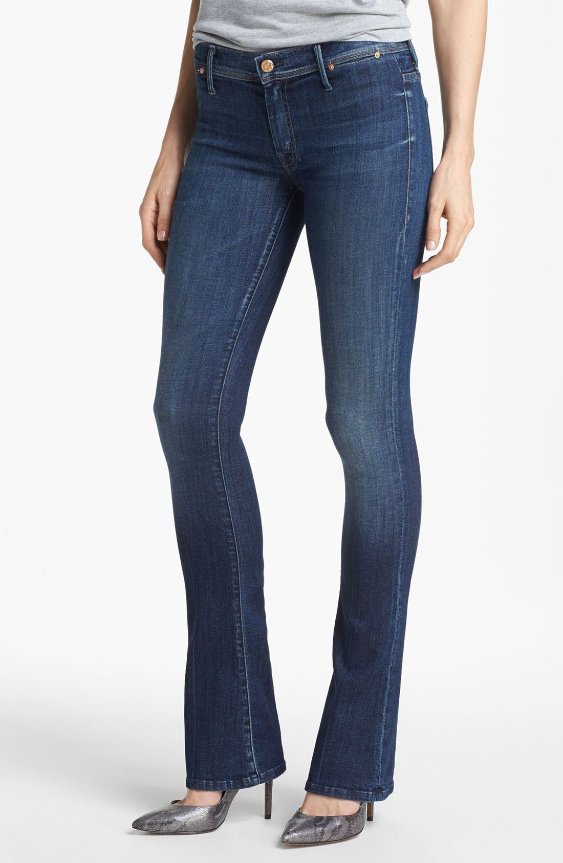 Main Image - MOTHER 'The Daydreamer' Skinny Flare Leg Jeans (Tempted Again)